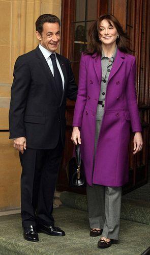 4. Fransa Cumhurbaşkanı Nicolas Sarkozy ve Carla Bruni-Sarkozy